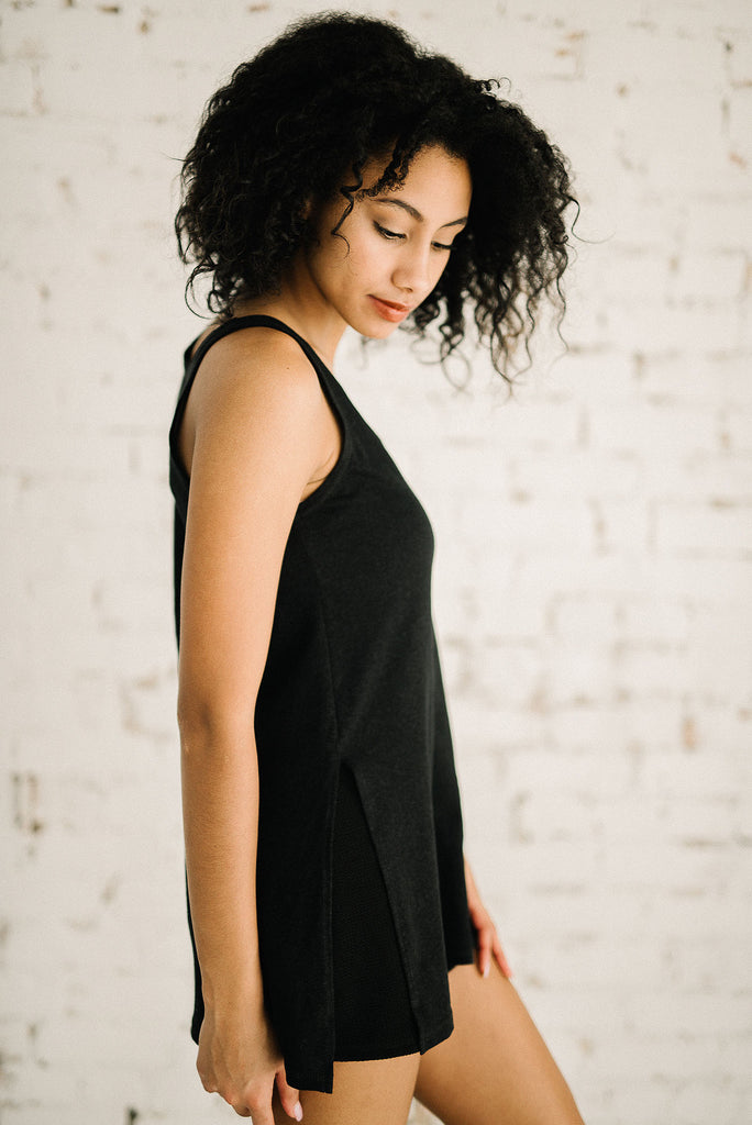 Tillie Tank Tunic | Black