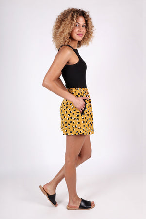 Simone Shorts | Mustard | Hello Tiger | Little Ditsy