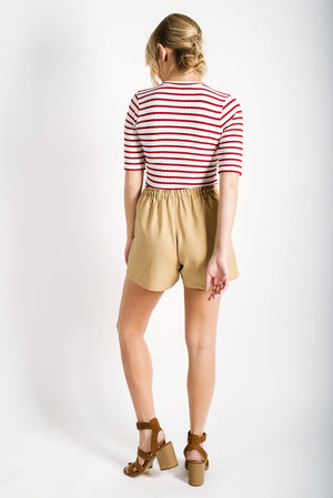 Gretta Draw-String Shorts | Sand