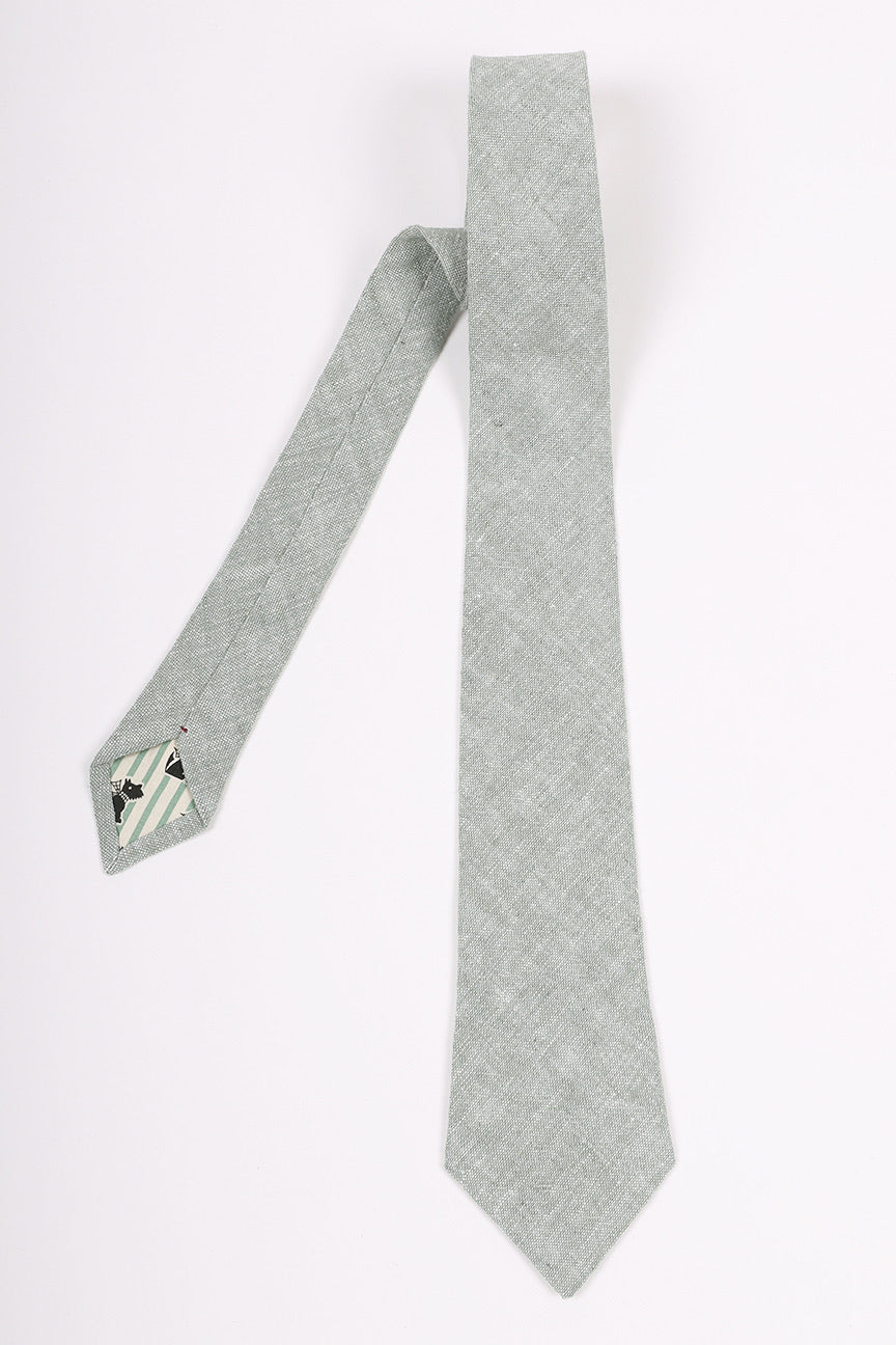 Linen Riley Tie | Matching Mask Option
