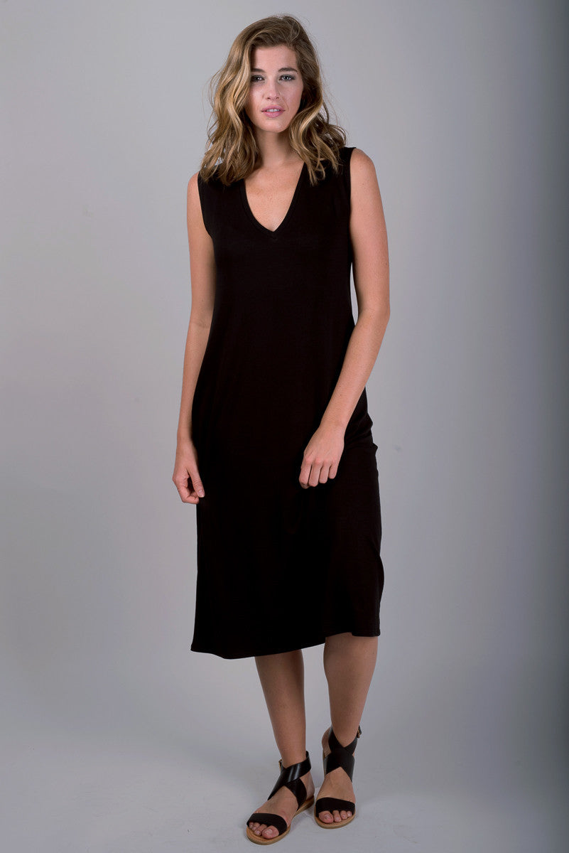 Sullivan Column Dress | Black