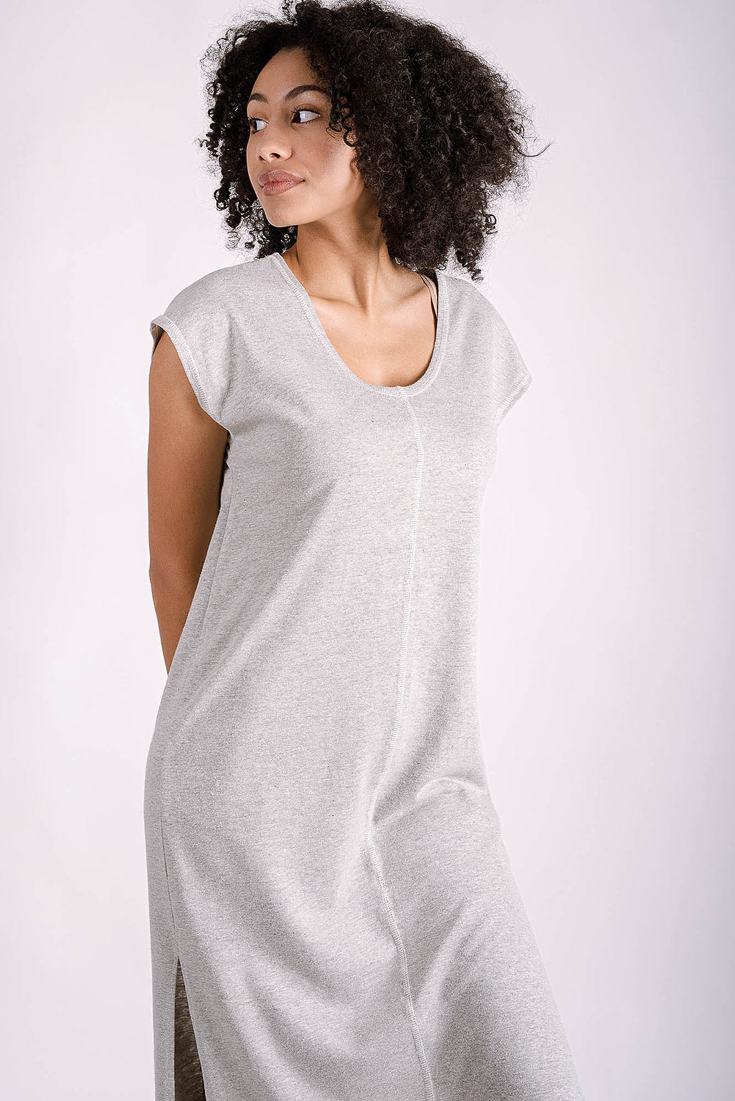 Della Reversible Dress | Heather Grey