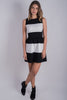 Marianne Fit and Flare Dress | Black/White