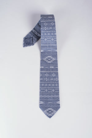 Aztec Chambray Riley Tie | Matching Mask Option