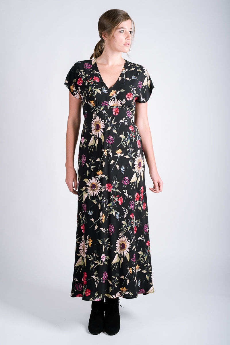 Drifter Maxi Dress | Wildflowers Black