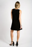 Natalie V-Neck Dress | Black