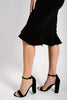 Eva Flutter Skirt | Black