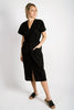 Birdie Linen Midi Shift | Black