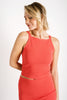 Maisie Square Neck Top | Coral