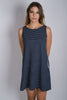Chelsea Swing Dress | Navy Pinstripe