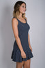 Flutter-by Dress | Navy Pinstripe