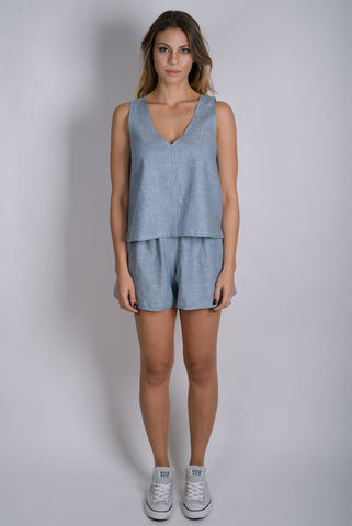 City Shorts | Chambray Blue