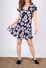Empire Flutter Dress | Seaside Floral Navy