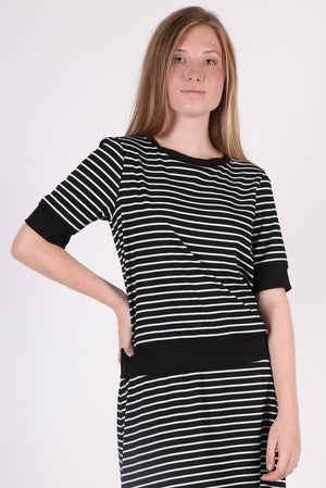 Lawson Crew | Hi-Line Stripe Black