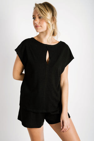 Lila Reversible Tee | Black