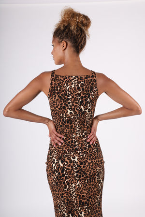 Maisie Square Neck Top | Cheetah