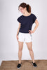 Side Stripe Shorts | Ivory