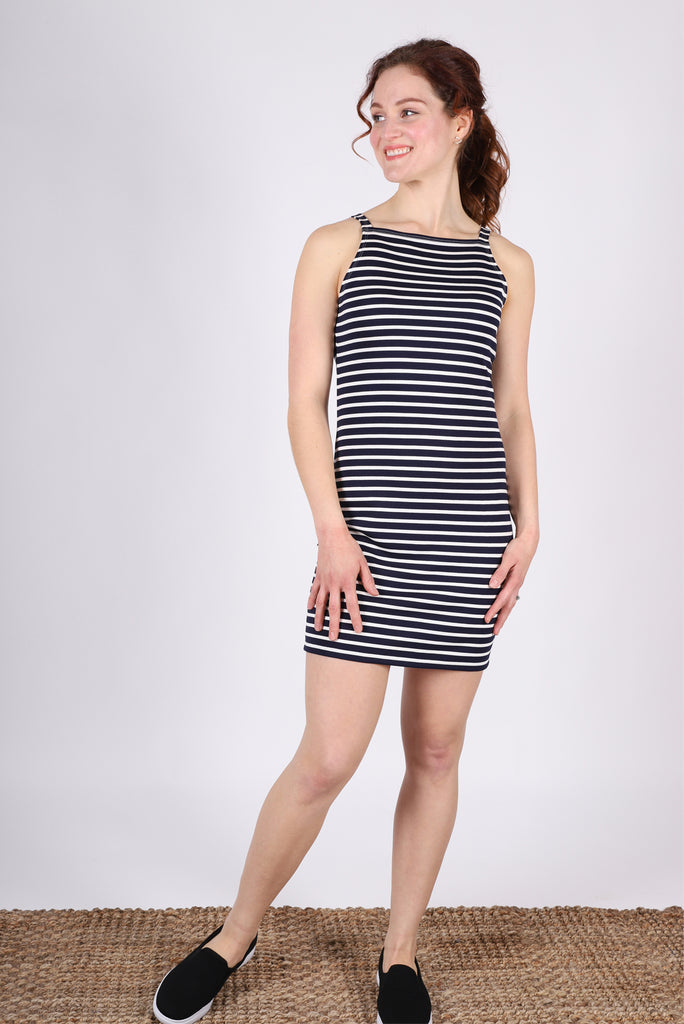 Kit Kat Body-skimmer | Navy/Ivory Stripe