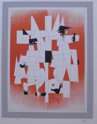 Carlos Merida,  Guatemalan, Mexican, Abstraction 1973