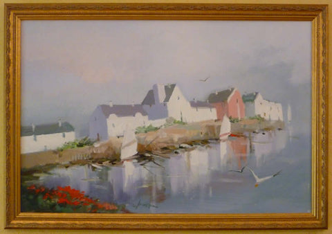 "Charles C. Gruppe - ""BRITTANY FRANCE"" Oil Painting"