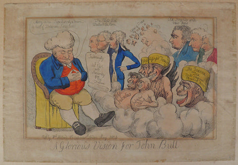 "James Gillray - ""A Glorious Vision for John Bull"""