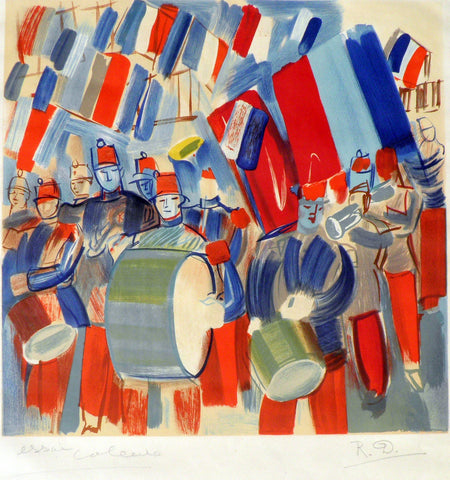 Raoul Dufy, (1877-1953) The Military Band, Lithograph, Proof edition,Very Rare,  New Listing.
