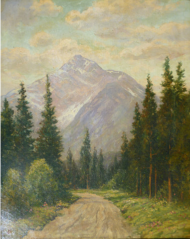 "ALBERT BIERSTADT - ""Road To Mountain"" ca. 1863"