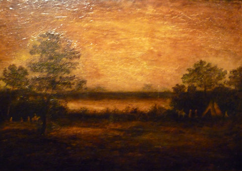 Ralph Albert Blakelock - ''Indian Encampment '' Ca. 1880-1890