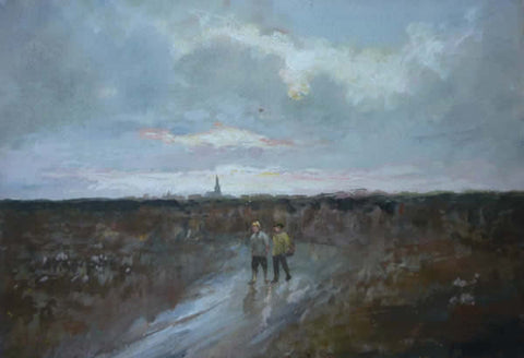 "J. Frank Currier - ""Boys Walking Home"" #104"