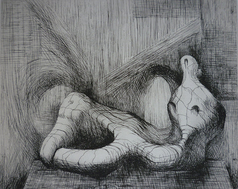 "Henry Moore - ""Reclining Figure, Piranesi Background II"""