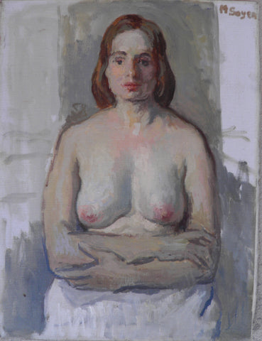 Moses Soyer, Nude, Oil on Canvas