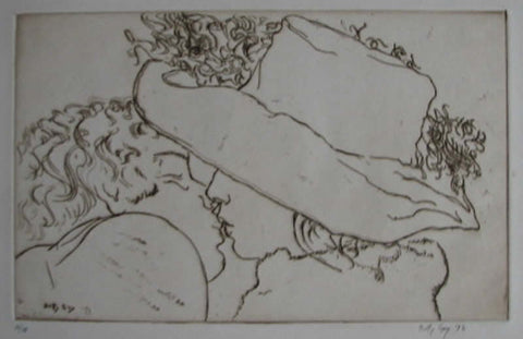 "Betty Guy - ""Young Lovers"" Etching"