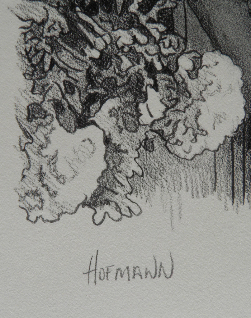 Door pencil drawing -  Douglass Hofmann Woman At Door Pencil Drawing