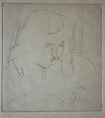 "Mary Spain - ""Barbara Gould"" Etching, Cubist Artist"
