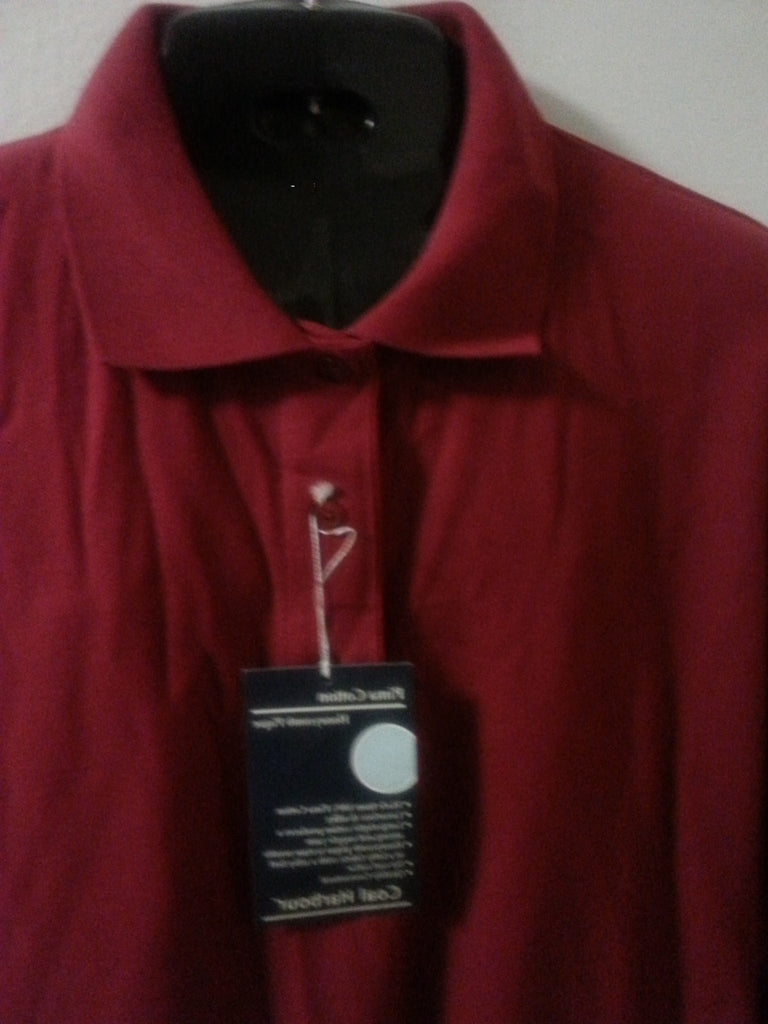 Burgundy Golfers Style Polo Men's Shirt plus 4XL.