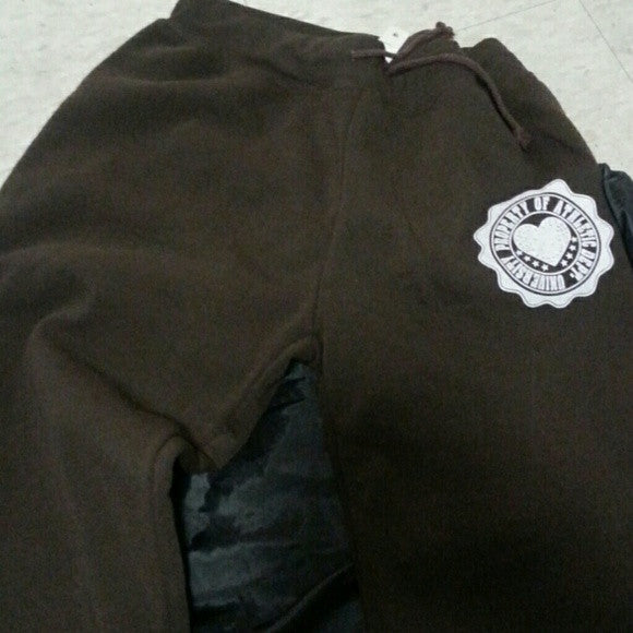Brown Ladies Plus size sweatpants