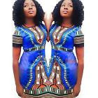 African Print Dashiki Dress, size XL