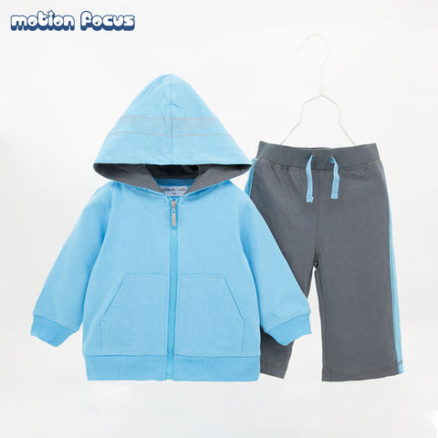 0-24M Newborn Baby Boy Girls Clothes Set Long Sleeve Hooded Sweatsuit +Pant 2PCS Baby Velour Tracksuit Outwear Children Clothing