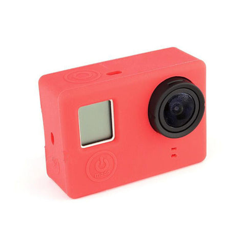 1 pcs  Black / Red / Blue Soft Silicone Gel Rubber Protective Case Skin Cover For GoPro Hero 3 Plus 4 Camera