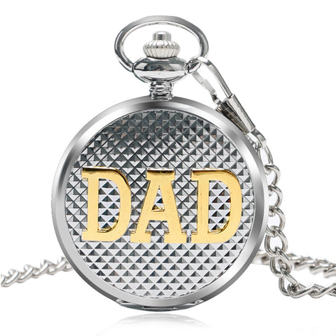 Antique Style Retro DAD Design Pocket Watch Father Watches Dad Father's Day Gift Quartz Pendant Clock P1049C