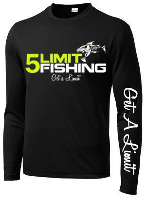 Black Long Sleeve Dri-Fit Tournament Shirt