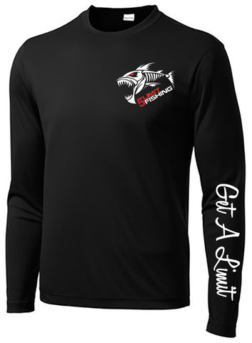 Black Long Sleeve Dry Fit (Small Logo on Front/Large Logo on Back)