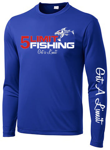 Blue Long Sleeve Dri-Fit Tournament Shirt