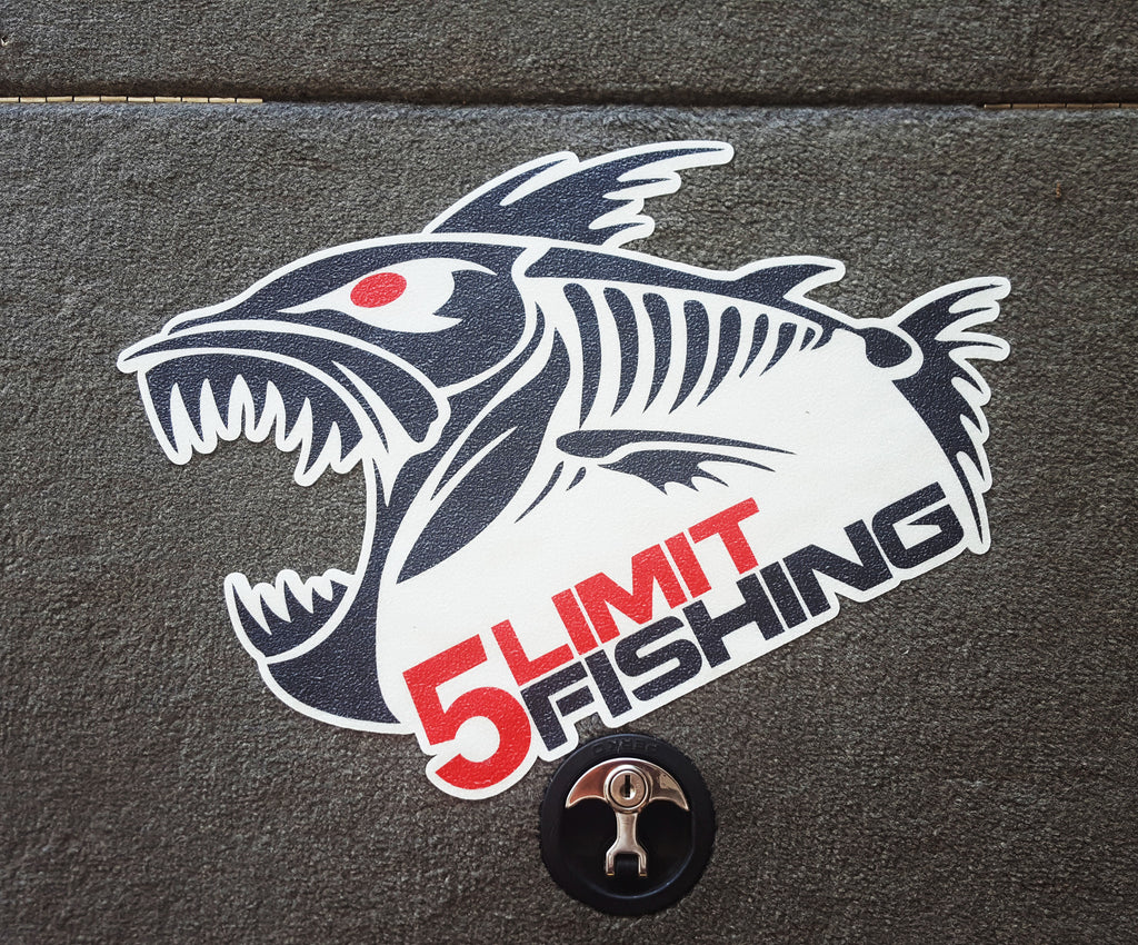 Boat Carpet Decal  Limit Fishing - Decals for boat carpet