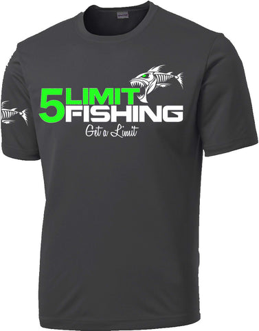 Iron Gray Dri-Fit Short Sleeve With Neon Green Logo