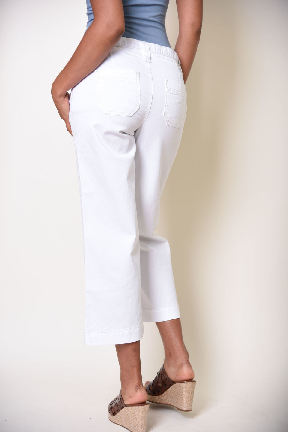 JAG Jeans Wallace Crop in White