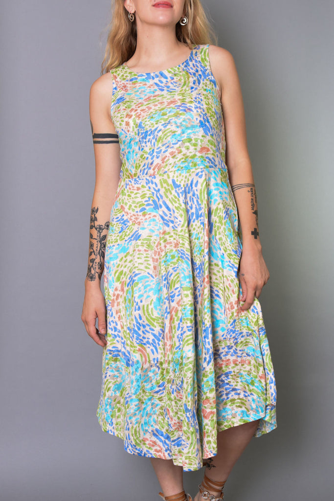 Plume & Thread Printed Sleevless Dress