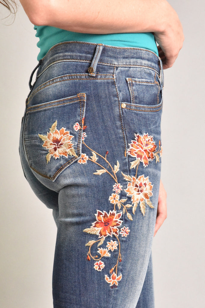 Jackie Embroidered Skinny Jeans by Driftwood