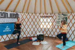 Yoga in a yurt during the 2015 San Juan Independent Film Festival.