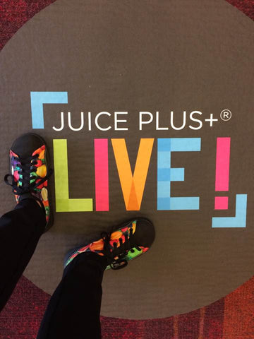SOM Fruit and Veggies Custom Shoes at Juice Plus conference